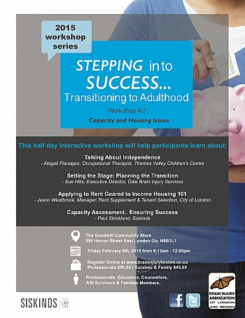 Stepping into Success Series #2 - London, Ontario - Feb 6th, 2015